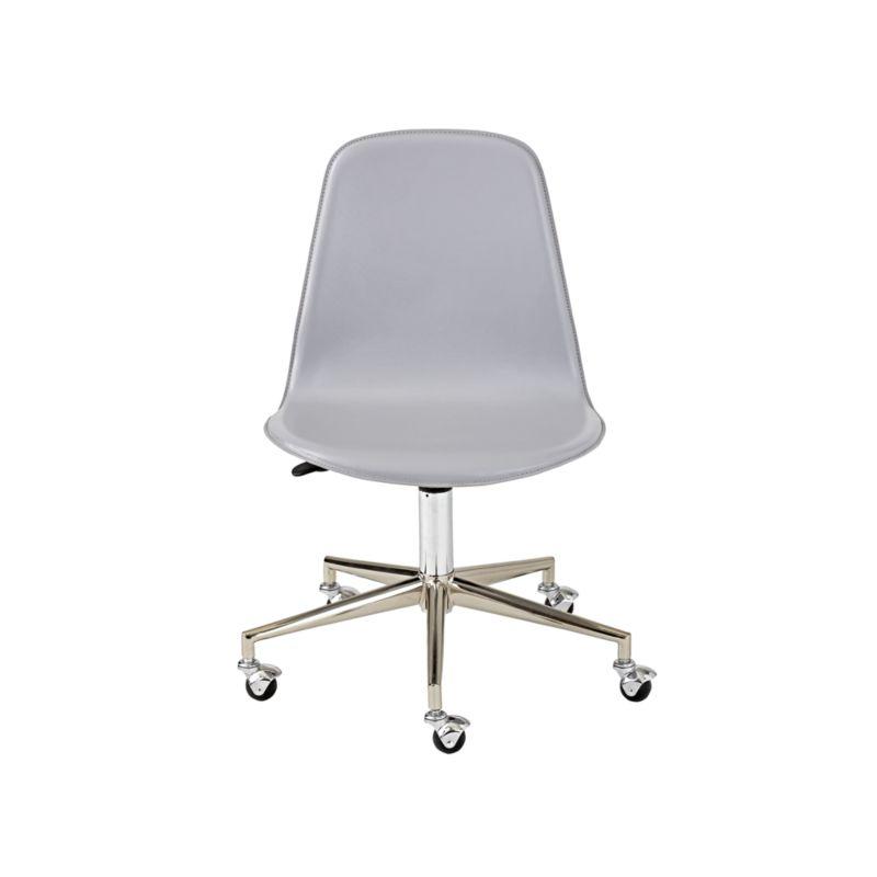 Kids Class Act Light Grey & Silver Desk Chair