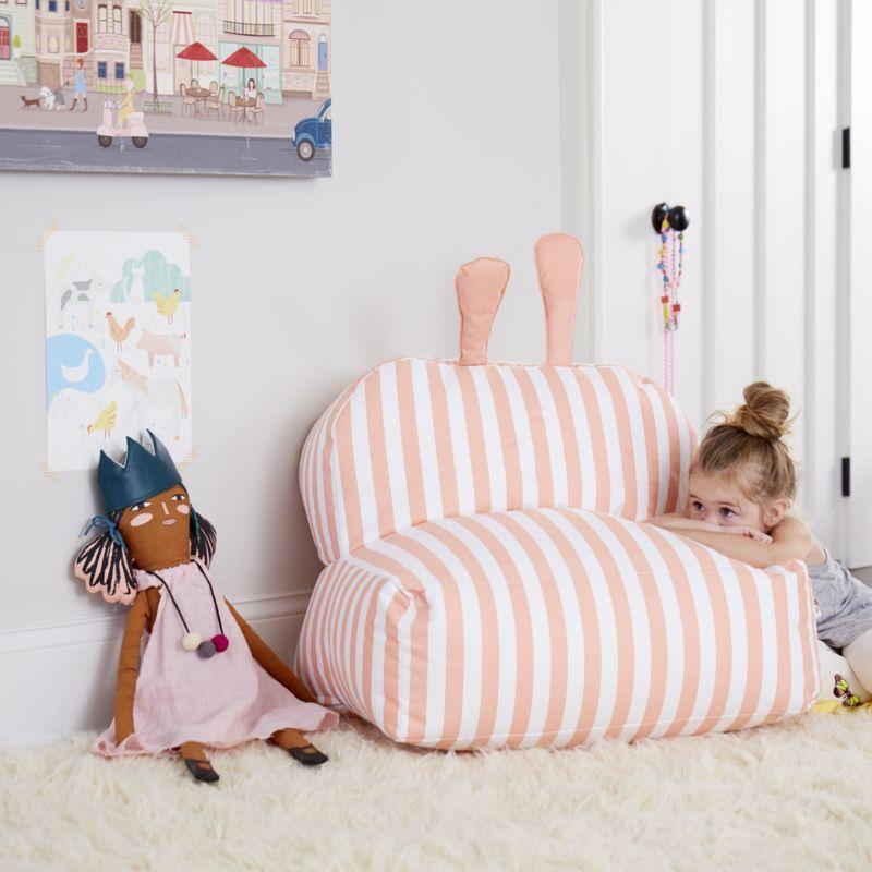Striped Bunny Bean Bag Chair