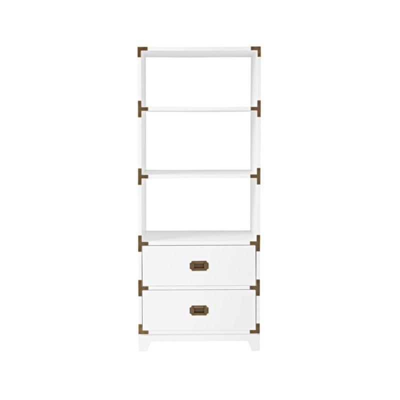 White Campaign Bookcase