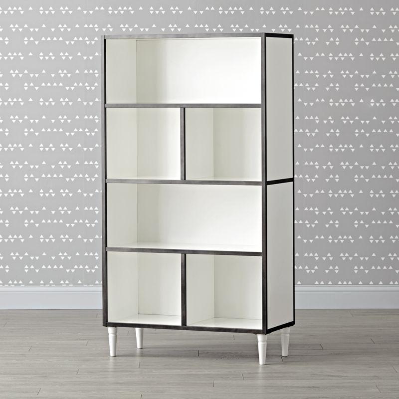 Fulton Street Tall White Bookcase