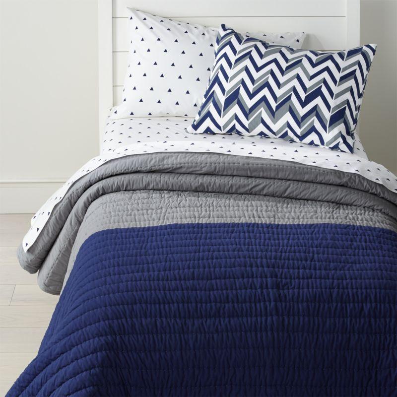 Little Prints Blue Full-Queen Quilt