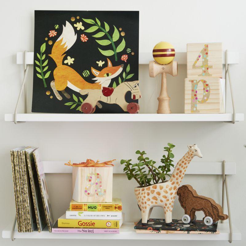 Wood Suspension Shelf