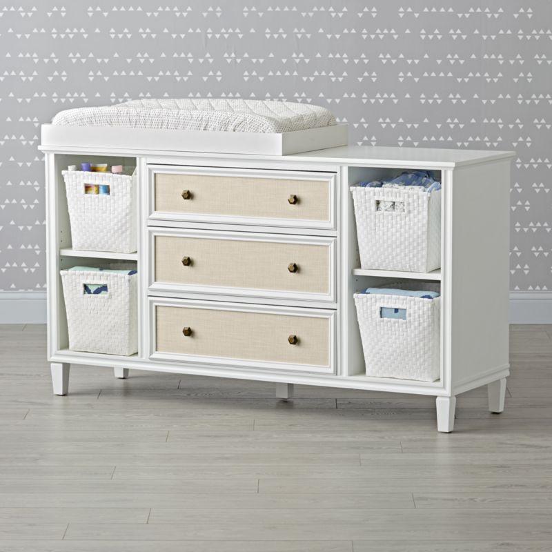 Kids Harmony Wide White Dresser