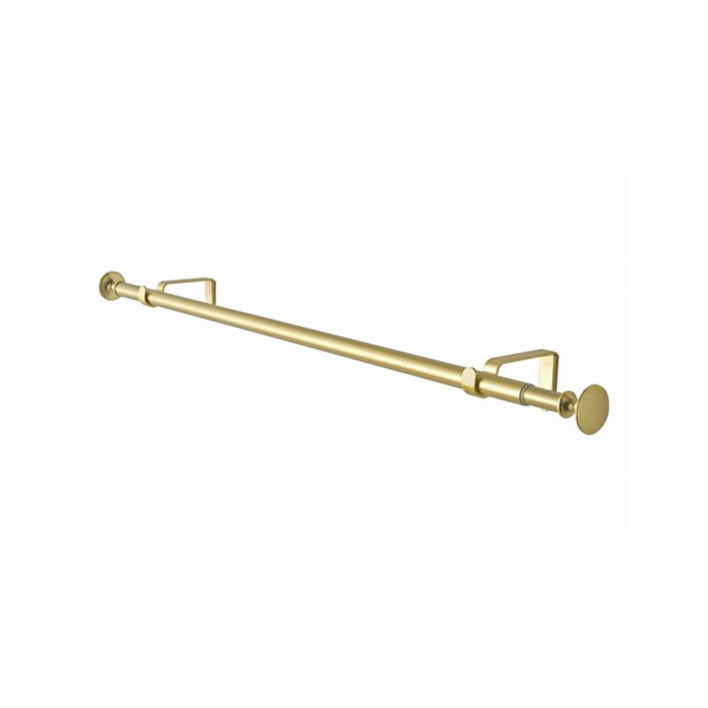 "Single 28-48"" Gold Curtain Rod"