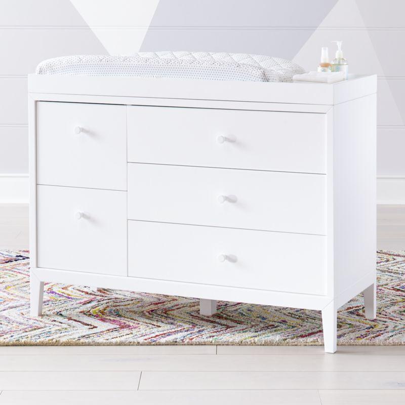Kids Ever Simple White Wide Dresser