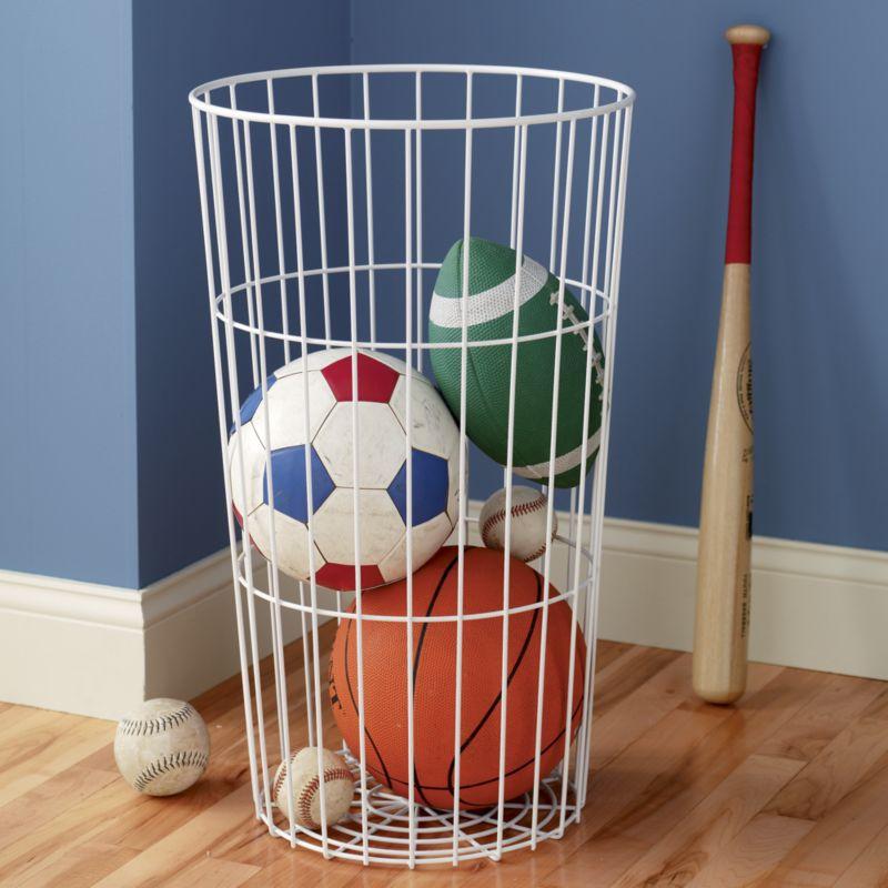 Orange Wire Ball Bin