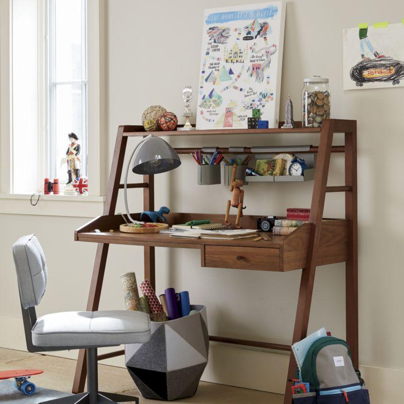 Kids Taylor Walnut Desk