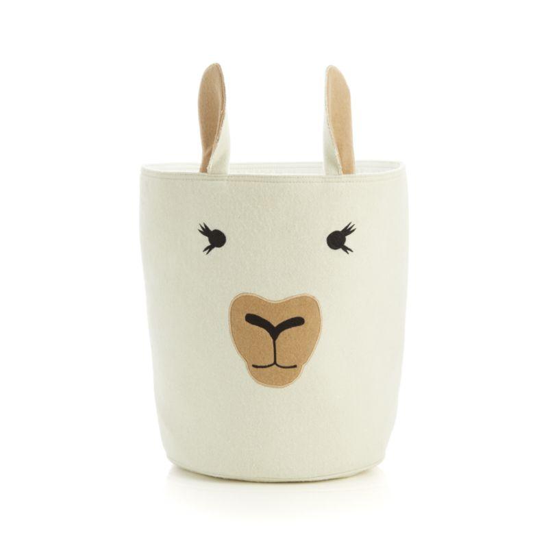 Llama Storage Bin