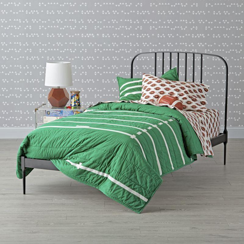 Larkin Black Metal Full Bed