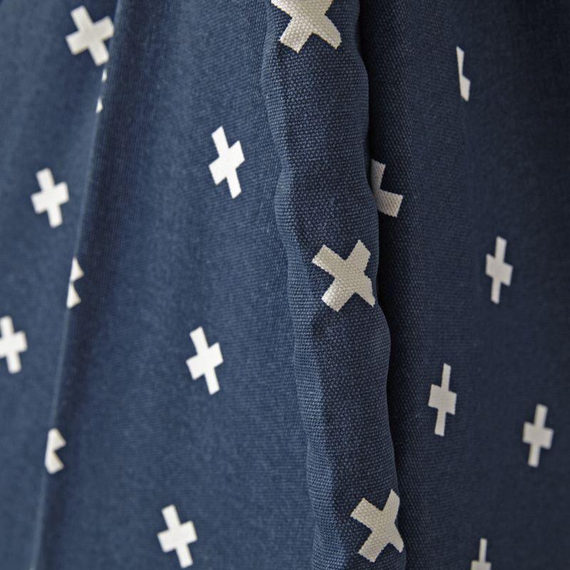 Cross Print Navy Blue Teepee