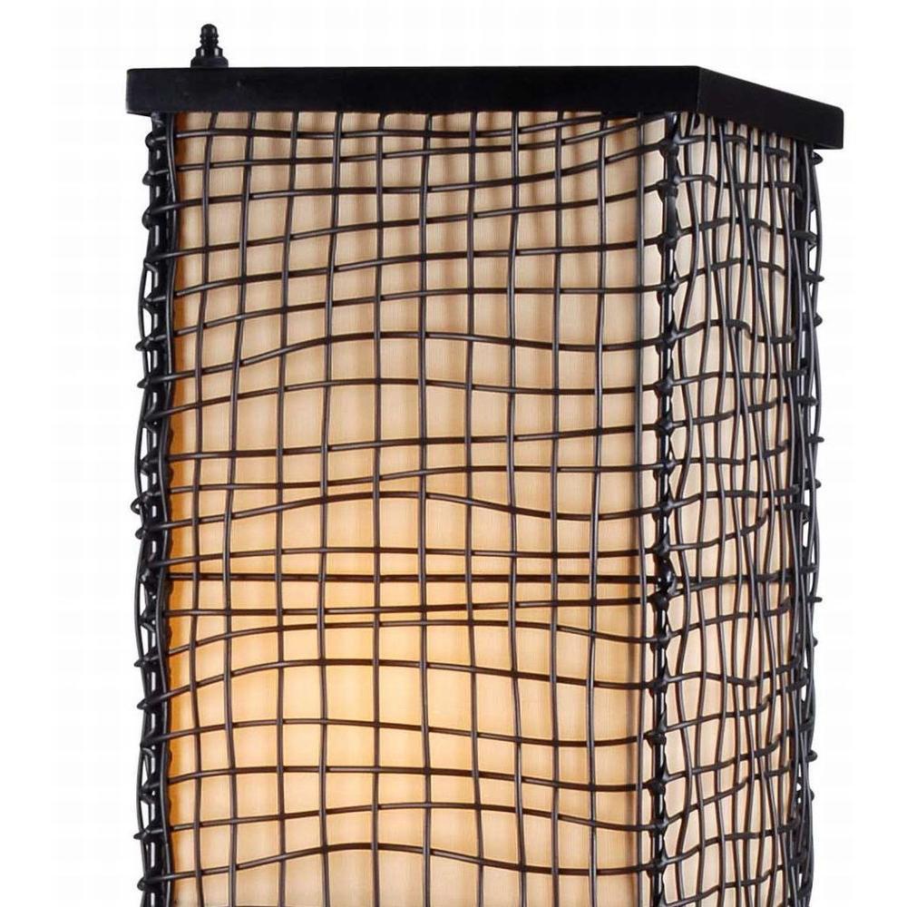 Kenroy Home Trellis 51 in. Bronze Outdoor Floor Lamp