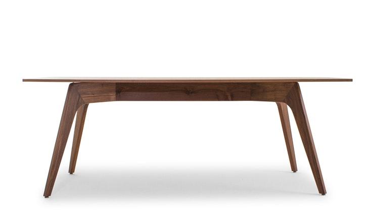 Hesse Mid Century Modern (Wood Top) Dining Table - Walnut