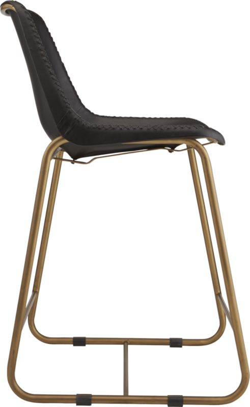 """""""roadhouse black leather 24"""""""" counter stool"""""""