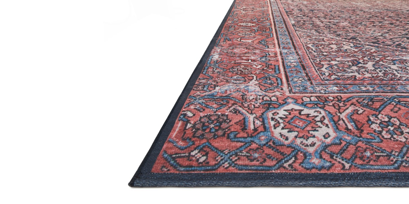 """LUCCA Rug NAVY / RED 7'-6"""" x 9'-6"""""""