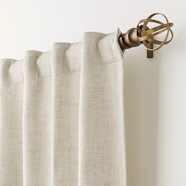 "Reid Natural 48""x108"" Curtain Panel - Crate and Barrel"