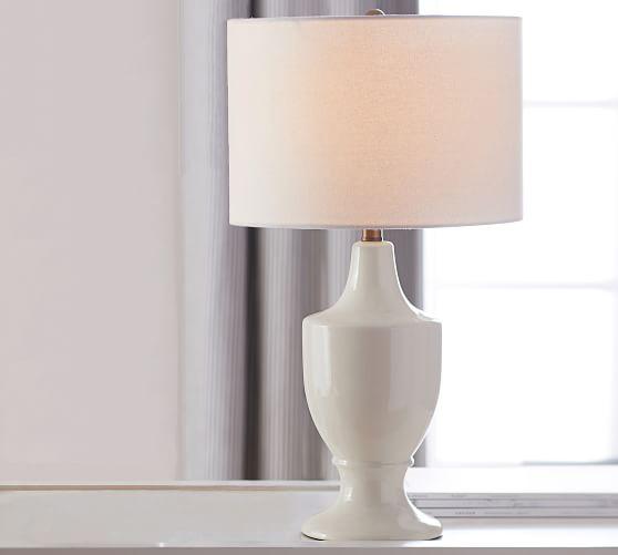 Emilie Accent Lamp, Ivory
