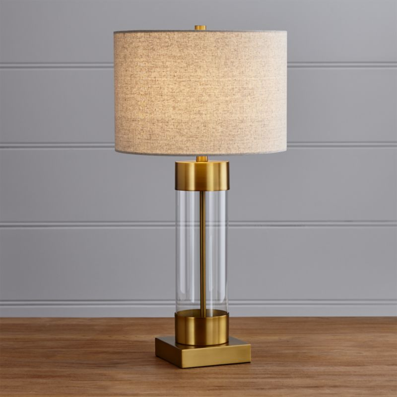 Avenue Brass Table Lamp with USB Port, Set of 2
