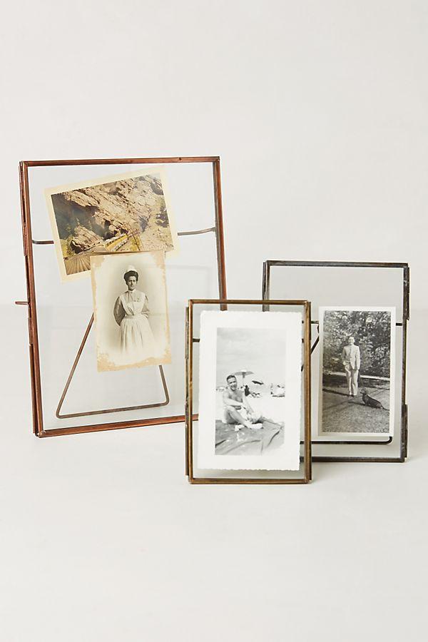 """Pressed Glass photo frame 5"""" x 7"""" Brass"""