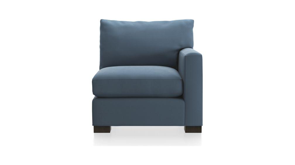 Axis II Right Arm Chair, Douglas, Indigo, Leg Fossil