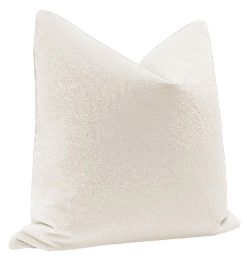 Signature Velvet // Alabaster Pillow Cover