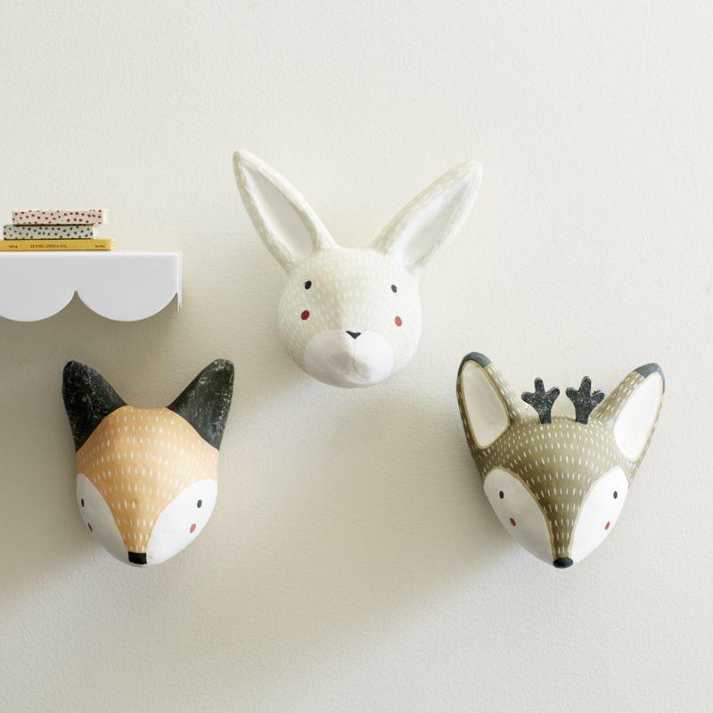 Paper Mache Fox Head