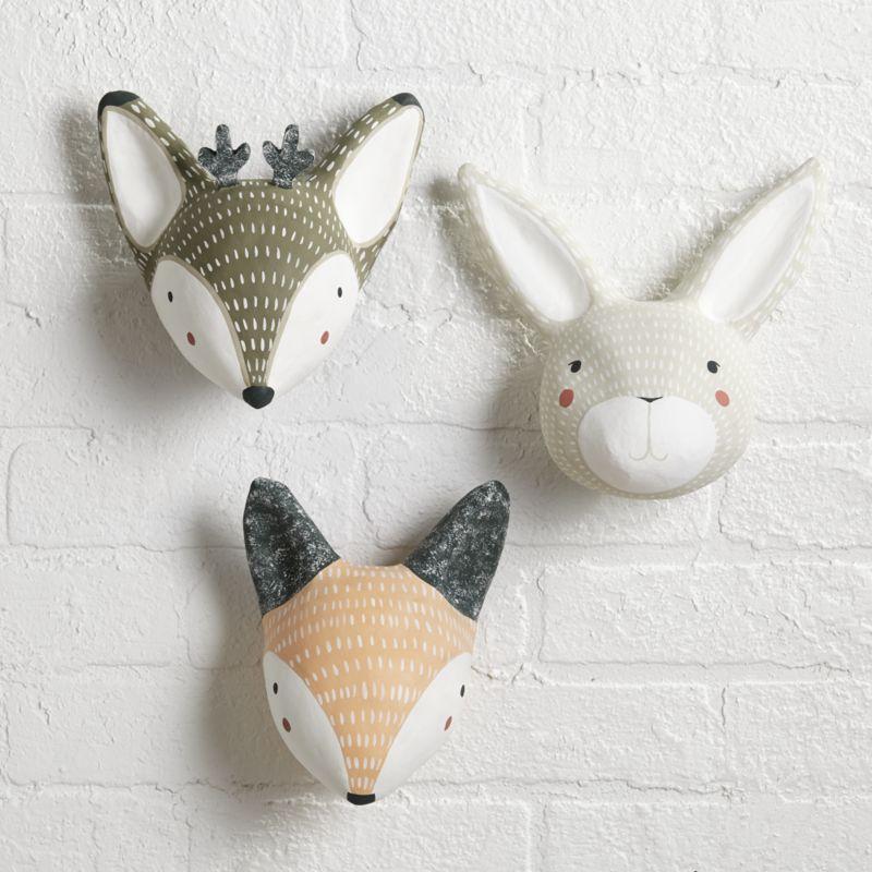 Paper Mache Rabbit Head