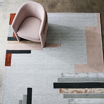 Deco Facade Rug, Rosette, 8'x10'