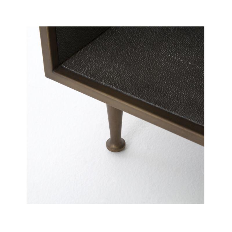 Antique Brass Shagreen Nightstand