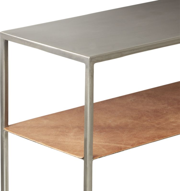 Mill Leather Console Table