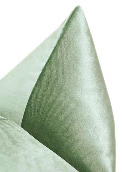 """Faux Silk Velvet // Pistachio - 24"""" X 24"""""""
