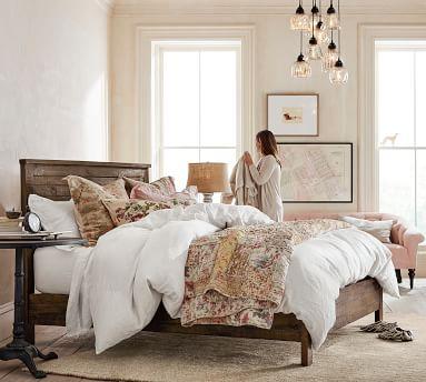 Paulsen Reclaimed Wood Bed, King, Cinder Gray