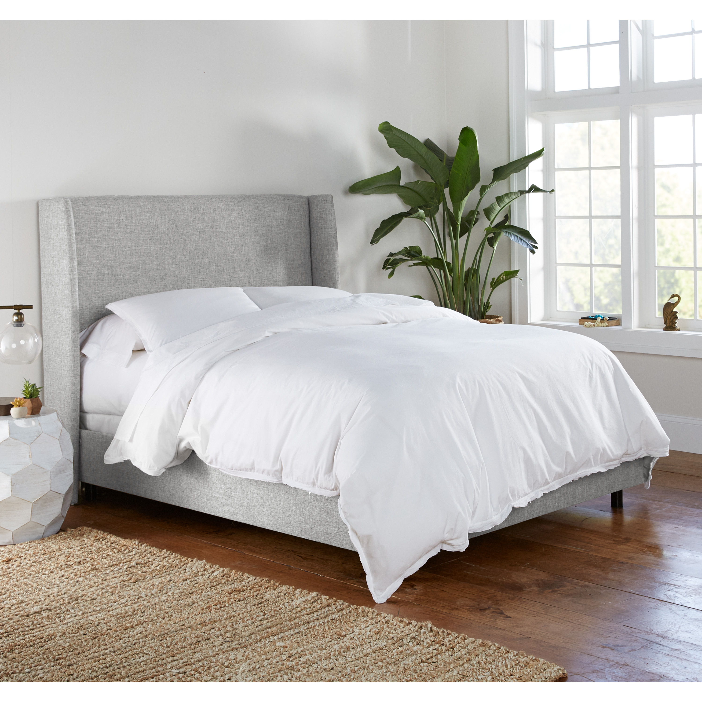 Bannock Wingback Bed, King, Pumice