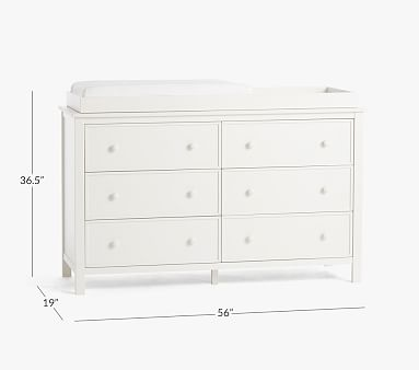 Austen Extra-Wide Dresser & Topper Set, Simply White, In-Home Delivery