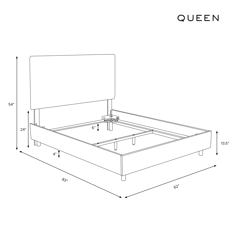 Lafayette Bed, Queen, Pumice