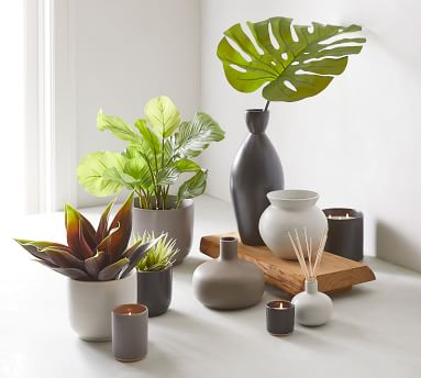 Mason Ceramic Diffuser, Grey Oak, Graphite Grey, 6.5 oz