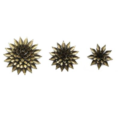 StyleCraft Decorative Floral Metal Aged Gold Wall Art (3-Pack)