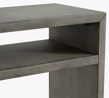"Byron 50"" Waterfall Console Table, Mason Gray"