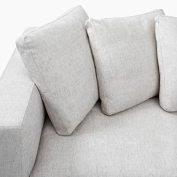Newport Sectional Set 01: Left Arm Sofa, Right Arm Chaise Toss Back Cushion, Down Blend, Performance Coastal Linen, Pebble Stone, Almond