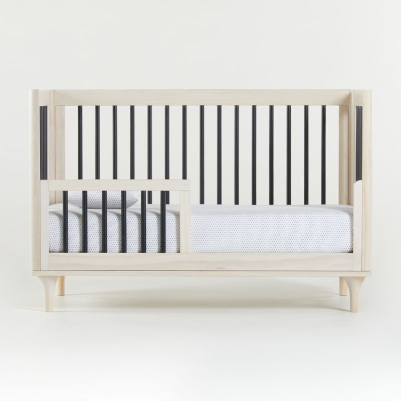 Babyletto Lolly Washed Natural and Black 3-in-1 Convertible Crib