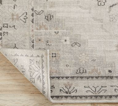 Aurelia Hand-Knotted Wool Rug, 9 x 12', Gray Multi