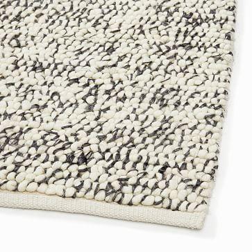 Mini Pebble Jute Wool Rug, 8x10, Natural/Alabaster