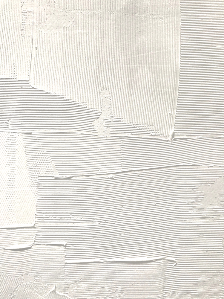 Relief [1]: An Abstract, Textured Piece In White By Alyssa Hamilton Art Framed Art Print by Alyssa Hamilton Art - Scoop White - SMALL-15x21