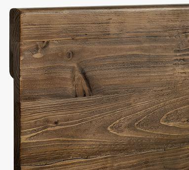 North Reclaimed Wood Platform Bed, Rustic Barnwood, Queen