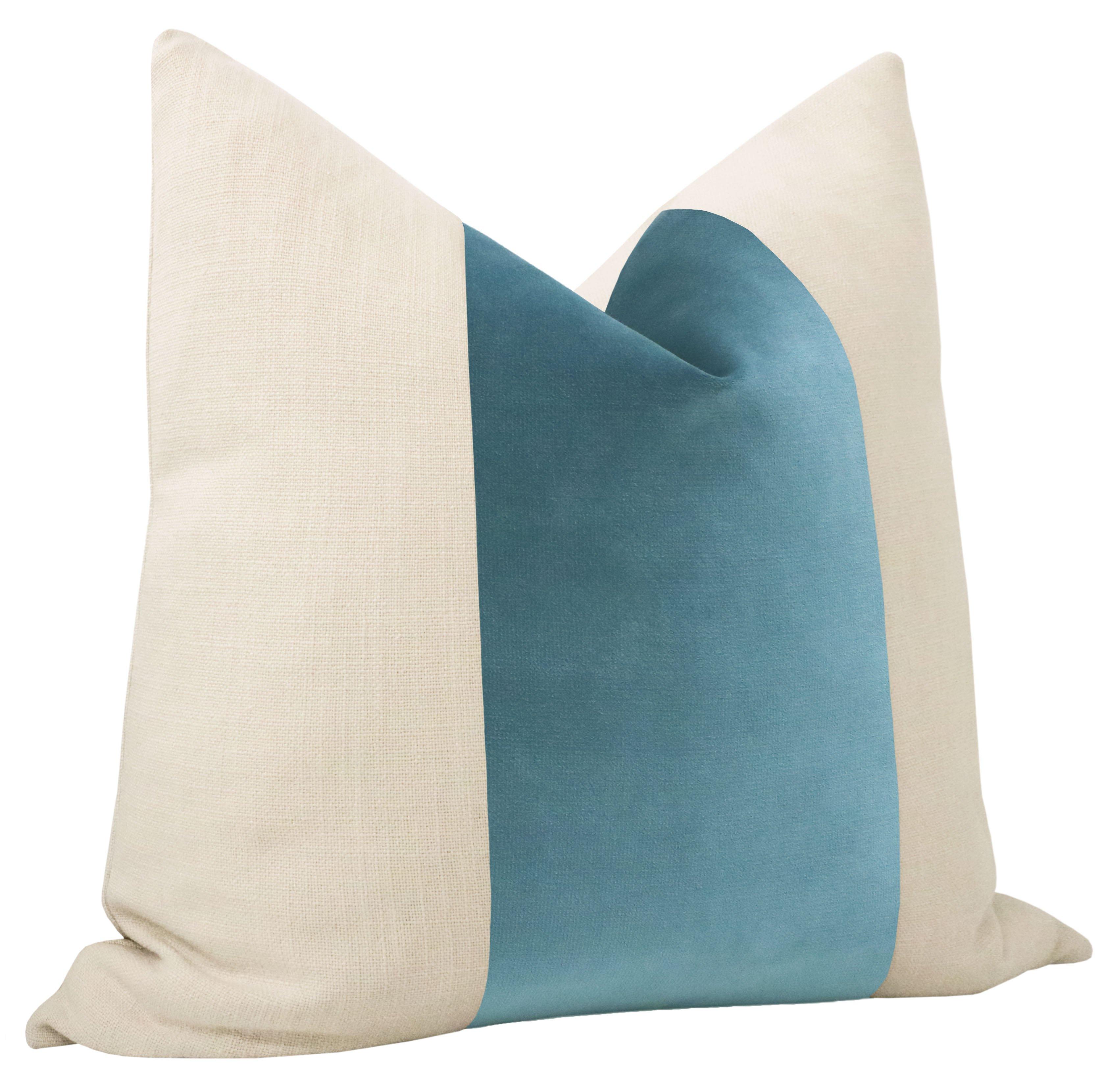 """PANEL :: Sonoma Velvet // French Blue - 18"""" X 18"""""""