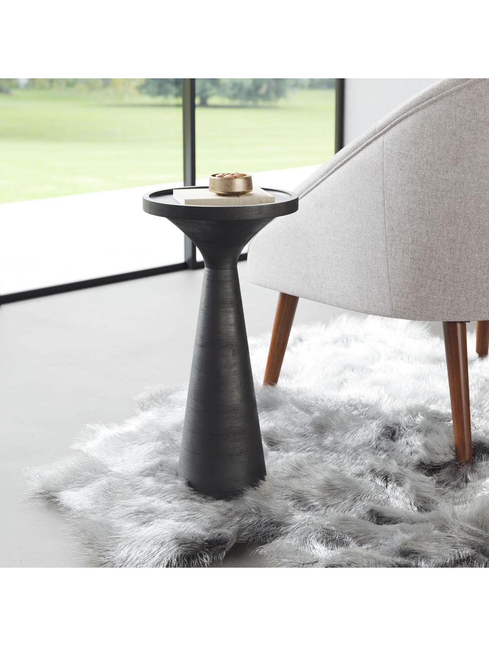 Omni Side Table, Matte Black