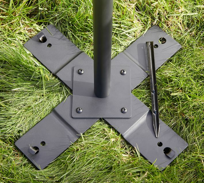 String Light Holders, Black, Patio/Yard, Set of 2 Poles
