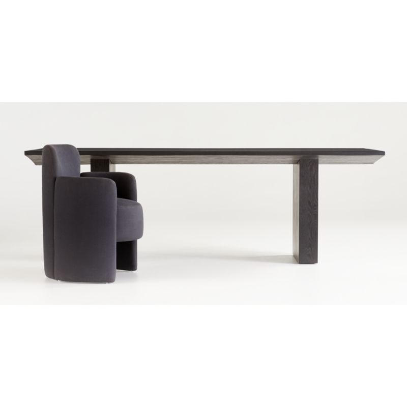 Van Charcoal Wood Dining Table