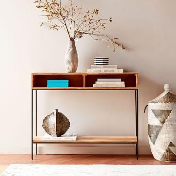 Graphic Printed Basket, Black/White, Large