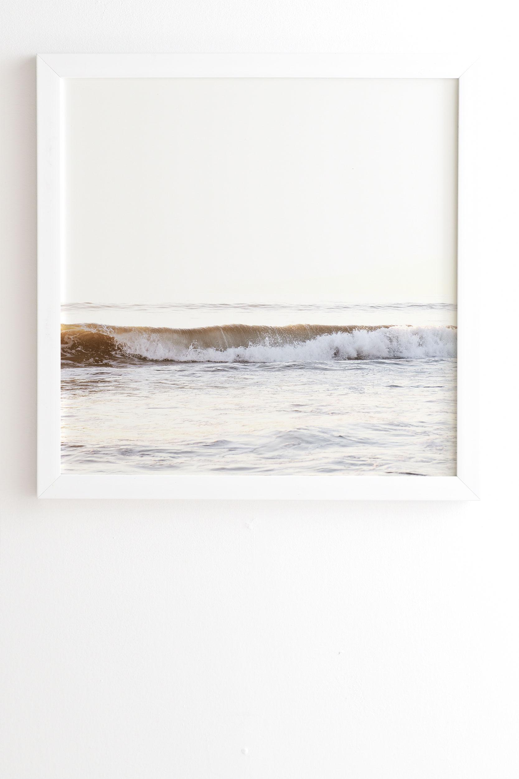 "Minimalist Wave by Bree Madden - Framed Wall Art Basic White 8"" x 9.5"""