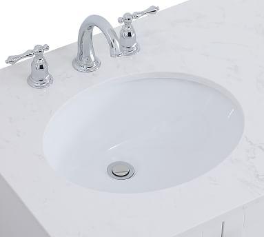 """Riola 32"""" Single Sink Vanity, Blue"""